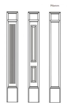 1000 images about pilasters on pinterest home theaters for Exterior door pediment and pilasters
