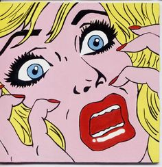 Roy Lichtenstein, his work defined the basic premise of pop art better than any other through parody.  Scream.