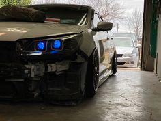 Custom Headlights, Demon Eyes, Slammed, Honda, Car, Automobile, Autos, Cars