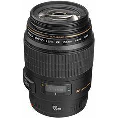 Canon Telephoto EF 100mm f/2.8 USM Macro Autofocus Lens. Good reviews, but no IS