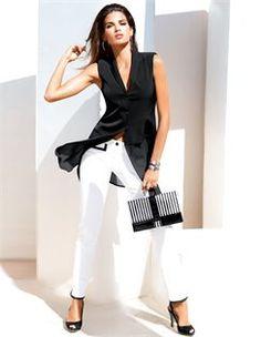 ♥✤ Madeleine ♥✤ Waistcoat, Slingback heels, Bracelet, Trousers, Clutch