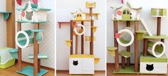 I wish I was a cat so I could go climbing around on this! Cats trees and more from Korean design company- Nabinamu.