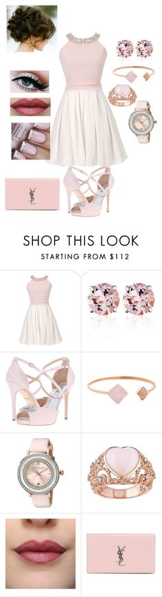 """""""Untitled #707"""" by jujuxx33 ❤ liked on Polyvore featuring Belk & Co., Badgley Mischka, Michael Kors, Ted Baker and Yves Saint Laurent"""