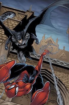 Spider-Man vs Batman.
