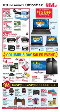 Office Depot / OfficeMax Ad October 9 - 15, 2016 - http://www.olcatalog.com/office/office-depot-officemax-ad.html