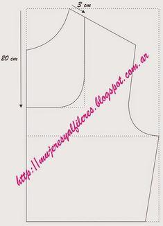 Mujeres y alfileres: Transformación de molderia: distintos tipos de escotes Bodice Pattern, Collar Pattern, T Shirt Sewing Pattern, Sewing Patterns, Dress Tutorials, Sewing Tutorials, Kurti Neck Designs, Fashion Sewing, Sewing Techniques