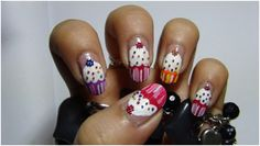 Cupcake Nail Art Tutorial – With Detailed Steps And Pictures