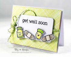 Mijn scraps: Get well soon