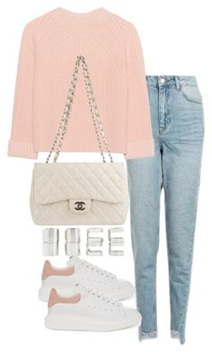 """""""Untitled #3179"""" by theeuropeancloset on Polyvore featuring Topshop, iHeart, Chanel, Alexander McQueen and Forever 21"""