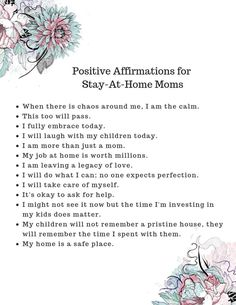 Did you know that by practicing positive affirmations you can greatly improve the quality of your life as a mom? Here are 100 affirmations you can say. Stay At Home Mom Quotes, Mommy Quotes, Life Quotes, Family Quotes, Stay At Home Mom Problems, Young Mom Quotes, Daughter Quotes, Father Daughter, Positive Quotes