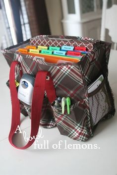 Office on the go! Organizing utility tote by Thirty One Gifts.