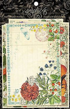 Graphic45 TIME TO FLOURISH (24) 4x6 Ephemera & Journal Cards scrapbooking