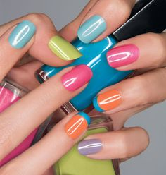 Avon's new NAILWEAR PRO Nail Enamels - A Carnival of Colors. I love the whole line. $2.99 right now at www.yourAVON.com/schalan