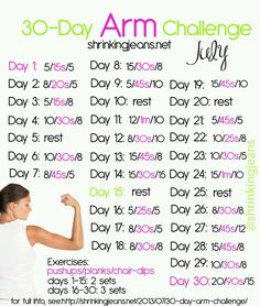 Next up! after plank challenge! 30 Day Arm Challenge
