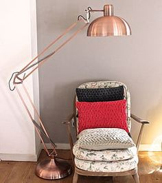 Large Chrome Angle-poise Floor Lamp - Floor Standing lights - Indoor ...
