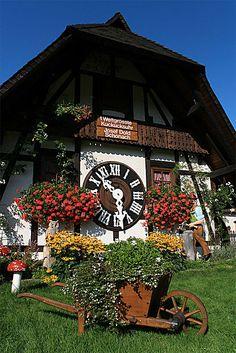 World's biggest cuckoo clock in Schonach, Black Forest, Germany