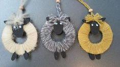 Får i garnrester diy Easter Art, Easter Crafts, Christmas Crafts, Sheep Crafts, Yarn Crafts, Animal Crafts For Kids, Art For Kids, Art Activities For Toddlers, Diy Ostern