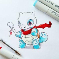 Artist: Itsbirdy   Pokemon   Squirtle   Cubone