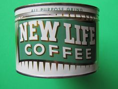 New Life Coffee, early 1960's, my collection