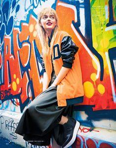 visual optimism; fashion editorials, shows, campaigns & more!: helene desmettre by takaki kumada for elle japan november 2014