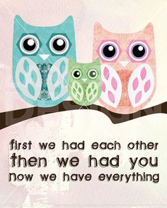 Owl Nursery Print by LarksEyeDesign on Etsy