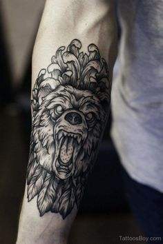 category animals tattoos arm tattoos wolf tattoos angel tattoo on arm