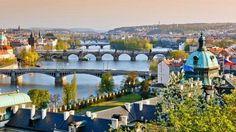 Magnificent Prague Bridges and the river Vltava
