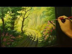 Acrylic Landscape Painting Lesson - Road to Cliffs by JMLisondra - YouTube