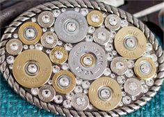 Bullet Jewelry Bullet Belt Buckle w/ Shotgun by RicochetRounds