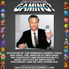didyouknowgaming:  Game Boy. http://ign.com/articles/2009/09/10/from-janitor-to-superstar
