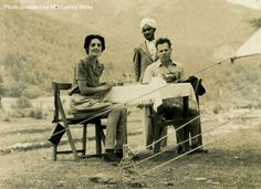 A British memsahib on a camping trip. Never without their Indian servants. www.christinelindsay.com