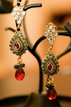 Multi Colored Devdas Earrings