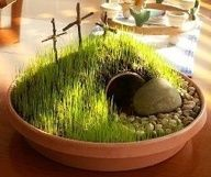 He is risen!! Cute craft for a table center piece.