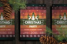Flyer/Poster Christmas Party Retro by shaman on @creativemarket