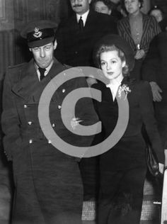 Rex Harrison and Lilli Palmer leaving the registry office after their marriage, Artist: Unknown # 2376630 Real Couples, Celebrity Couples, Celebrity Weddings, Hollywood Glamour, Old Hollywood, Lilli Palmer, January 27, Grooms, Artists