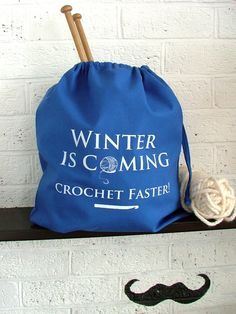For My Fellow Thrones Fans || Winter Is Coming.. Crochet Faster! Game of Thrones Inspired Yarn Bag