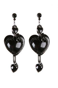 tarina tarantino black heart earrings