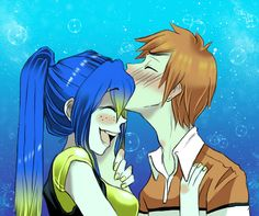 Finding Nemo, Dory and Marlin. I never saw them as a couple, but this is adorable :)