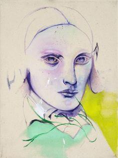 beautiful and strange portrait. artist cathrine raben davidsen