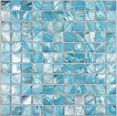 Sea shell mosaic Mother of pearl tile backsplash MOP049 blue pearl shell tiles mother of pearl tiles bathroom tile mosaics [MOP049] - $19.49 : MyBuildingShop.com