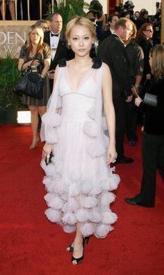 Rinko Kikuchi in Chanel - Fashion Flashback: 2007 Golden Globes Red Carpet  - Photos