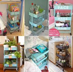 15 Clever IKEA Rolling Cart Hacks That Are Simply Awesome - http://www.amazinginteriordesign.com/15-clever-ikea-rolling-cart-hacks-simply-awesome/