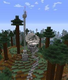 made this little satellite dish in survival, thoughts? Minecraft Modern City, Minecraft Building Blueprints, Minecraft City Buildings, Minecraft House Plans, Minecraft Farm, Minecraft Images, Minecraft Construction, Amazing Minecraft, Minecraft Architecture