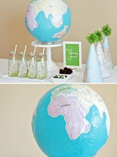 DIY Paper Mache Globe