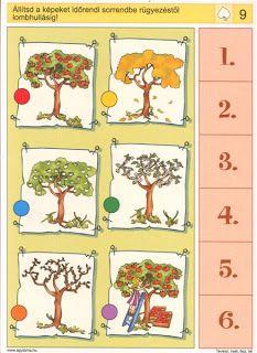 Gyermek kuckó: Logico - évszakok 9 Preschool Worksheets, Preschool Learning, Teaching, Brain Activities, Preschool Activities, Picture Comprehension, Sequencing Cards, Thinking Skills, Pre School