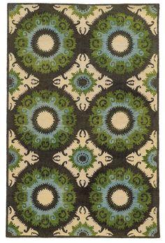 Tommy Bahama Jamison Black / Green Abstract Rug