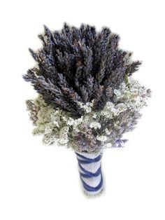 Organic Dried Lavender Wedding Bouquet  Gross Blue by naturelview, $19.00