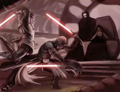 Nihilis, Revan, Starkiller, and maybe Malak. Don't ask me how. I don't know.