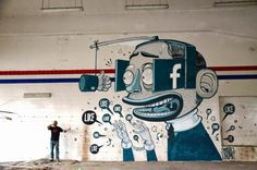 """by Mr Thoms - New mural: """"Like A Vision"""" - Ferentino, Italy - 09.07.2014"""