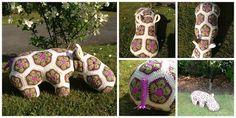 Crocheting at Timaru: African Flower Motif Hippo FREE PATTERN!
